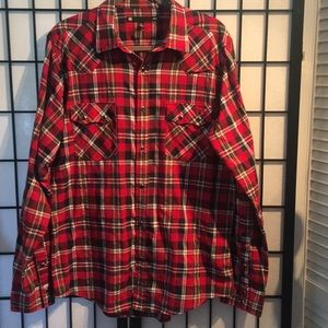 KR3W Plaid Long Sleeve Shirt